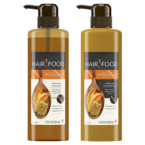 Hair Food - Moisture Shampoo & Conditioner Set Infused With Honey Apricot Fragrance
