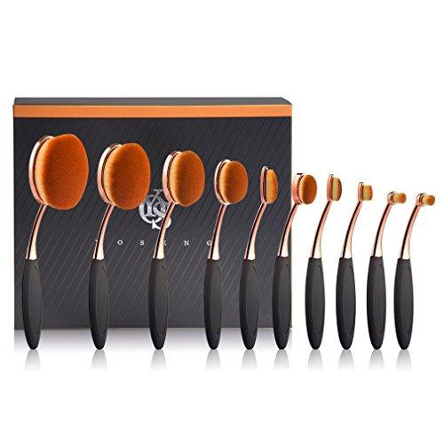 Yoseng - Oval Makeup Brushes Set of 10