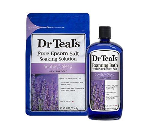 Dr Teal'S - Dr Teal's Epsom Salt Soaking Solution and Foaming Bath with Pure Epsom Salt, Lavender
