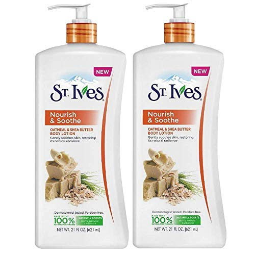 St. Ives - St. Ives Nourish & Soothe, Oatmeal & Shea Butter Body Lotion 21 oz (Pack of 2)