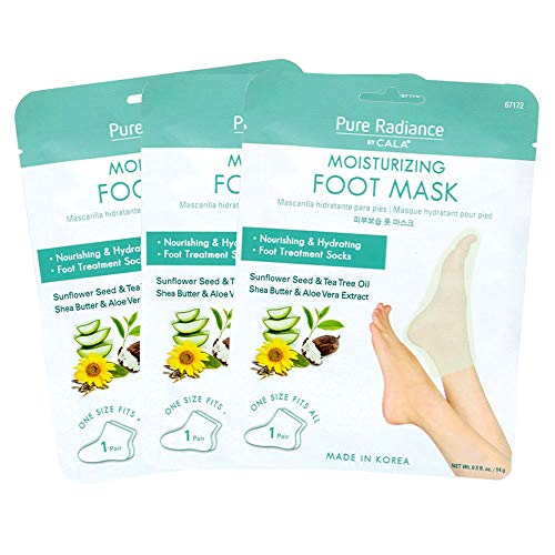 Shin's Trading Co., Inc. - Pure Radiance by Cala Moisturizing Foot Masks Pack of 3 Foot Treatment Socks