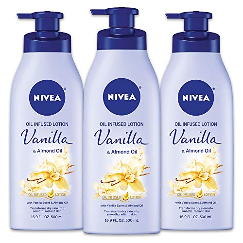 Nivea - Nivea Lotion Oil-Infused Vanilla/Almond Oil 16.9 Ounce Pump (500ml) (2 Pack)