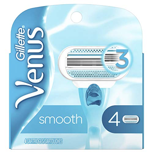 Gillette Venus - Gillette Venus Smooth Women's Razor Blades - 4 Refills(Packaging May Vary)