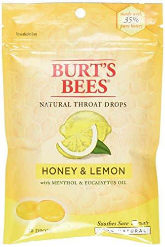 Burts Bees - Burt's Bees Natural Throat Drops, Honey & Lemon 20 ea (Pack of 2)