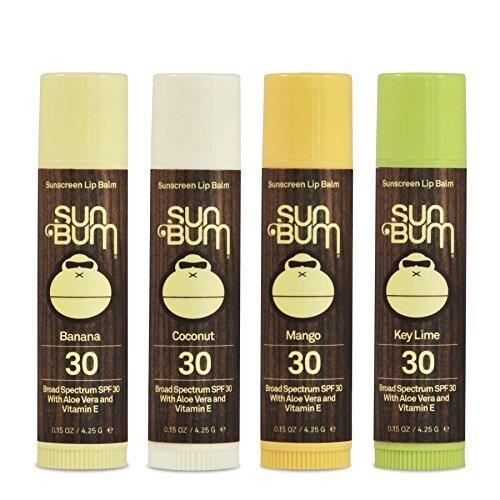 Sun Bum - Sun Bum SPF30 Lip Balm Banana, Coconut, Mango, Lime 4 Pack