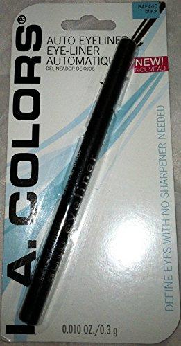 L. A. Colors - Auto Eyeliner Black - Long Wear Shapes & Defines Eyes, 0.009 oz,(L.A. Colors)