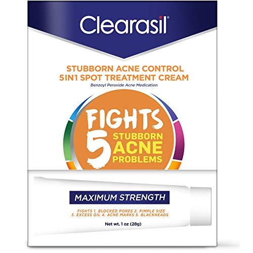 Clearasil - Clearasil Stubborn Acne Control 5in1 Spot Treatment Cream, 1 oz