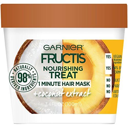 Garnier - Garnier Fructis Nourishing 1 Minute Hair Mask, Coconut, 3.4 fl. oz. (Pack of 2)