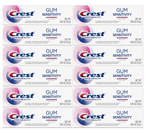 Crest - Crest Pro Health Gum and Sensitivity Toothpaste for Sensitive Teeth, Soft Mint, Travel Size 0.85 oz (24g) - Pack of 12