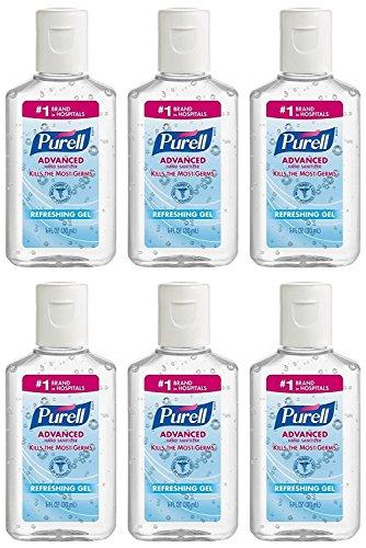 Purell - Purell Advanced Hand Sanitizer Refreshing Gel, 1 Fl oz (6-Pack)