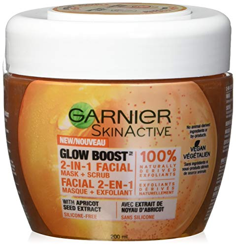 Garnier - SkinActive Glow Boost 2-in-1 Facial Mask and Scrub