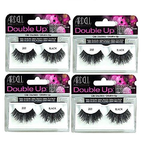 Ardell - Ardell - Double Up #203 False Eyelashes, Black reusable (4-Pack)