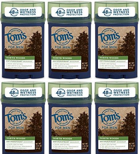 Tom's of Maine - Tom's of Maine North Woods Men's 48-Hour Antiperspirant Deodorant, 2.25 Ounce, (Pack Of 6)