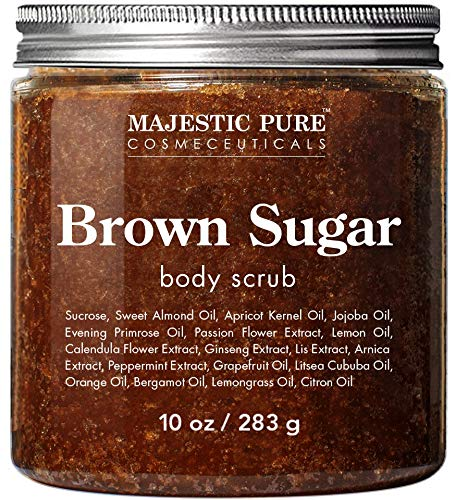 Majestic Pure - Brown Sugar Body Scrub for Cellulite and Exfoliation