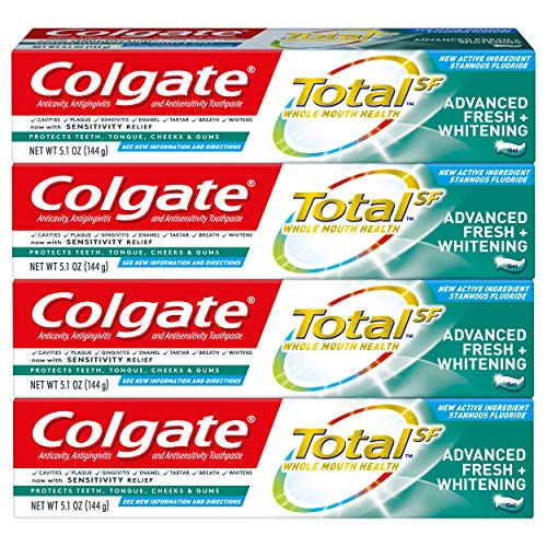 Colgate - Total Whitening Toothpaste, Advanced Fresh + Whitening Gel