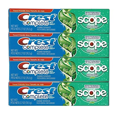 Crest - Crest Complete Multi-benefit Whitening + Scope Minty Fresh Flavor Toothpaste 2.7 Oz (Pack of 4)