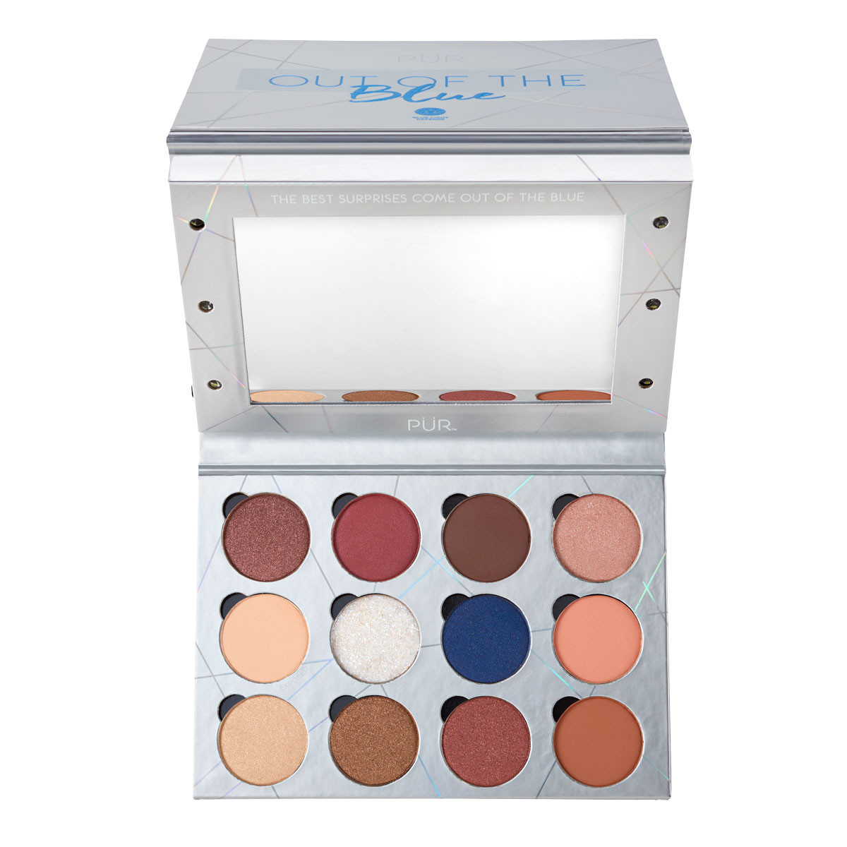 www.purcosmetics.com Out of the Blue Light Up Vanity Eyeshadow Palette