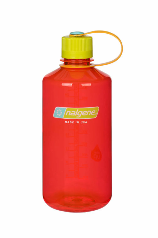Nalgene - clear pink bottle with beet red cap