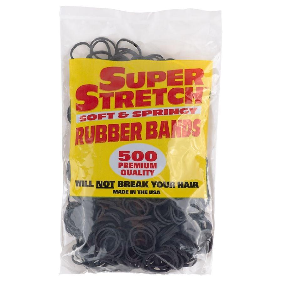 Walgreens - Super Stretch Soft & Springy Rubber Bands Black
