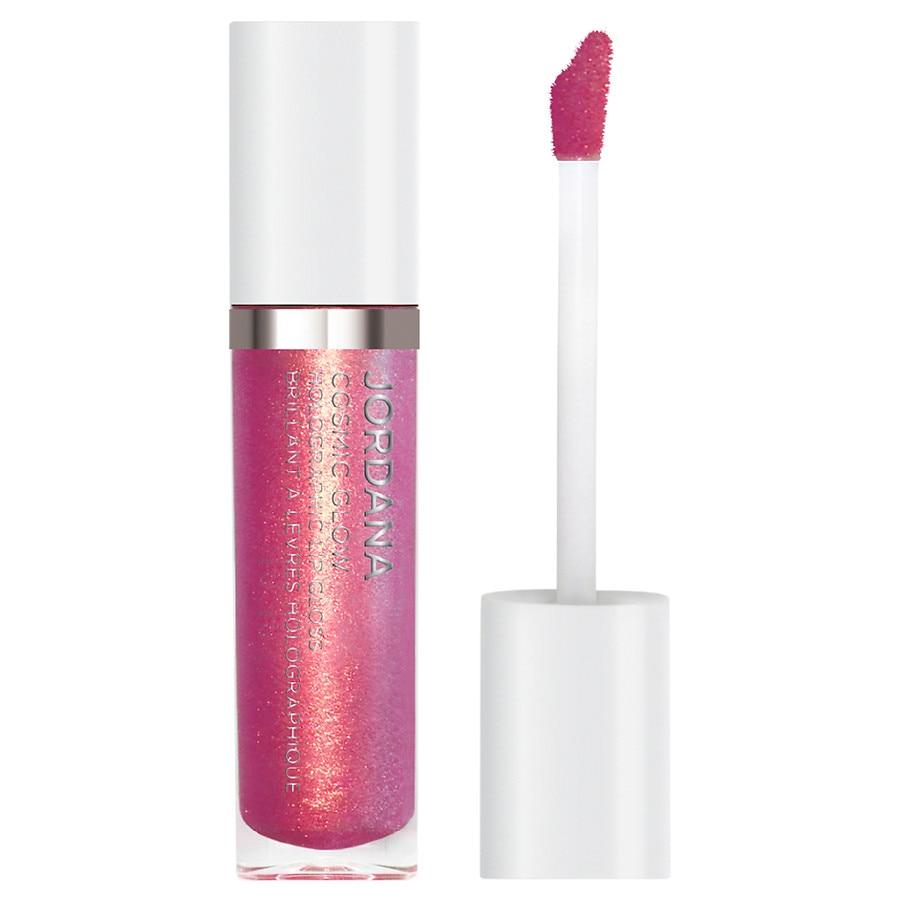 Jordana - Cosmic Glow Holographic Lip Gloss, Crystallized Pink