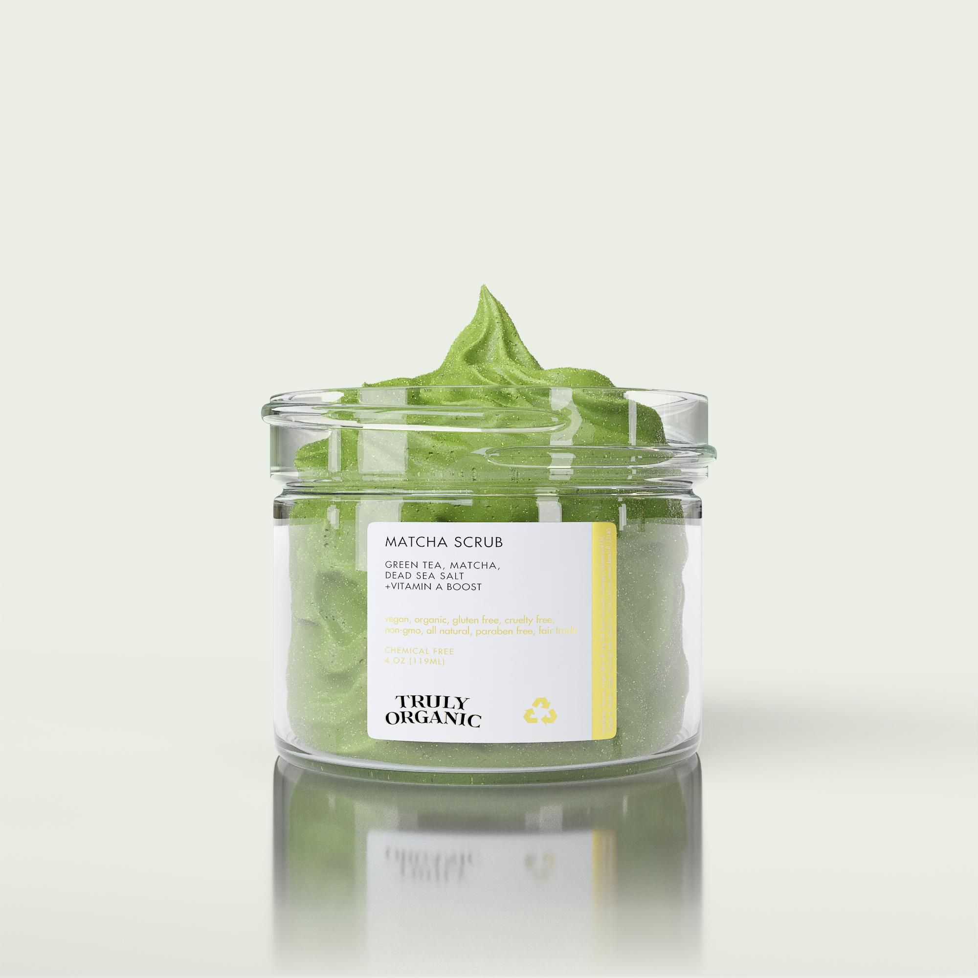 Truly Organic - Matcha Face Scrub