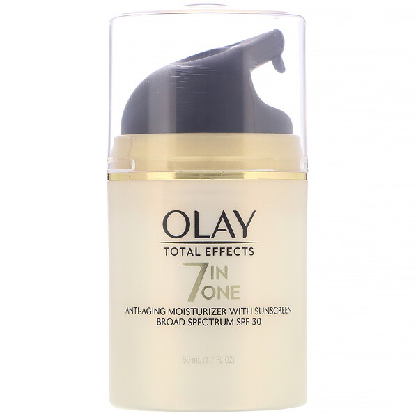 Olay Olay, Total Effects, 7-in-One Anti-Aging Moisturizer with Sunscreen, SPF 30, 1.7 fl oz (50 ml)