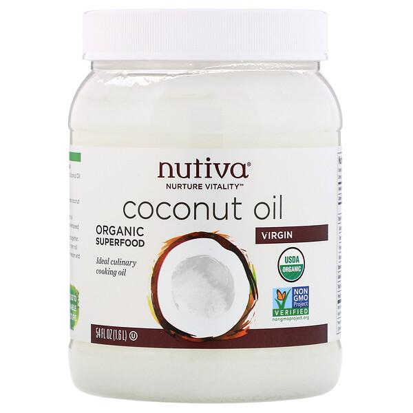 Nutiva - Nutiva, Organic Coconut Oil, Virgin, 54 fl oz (1.6 L)