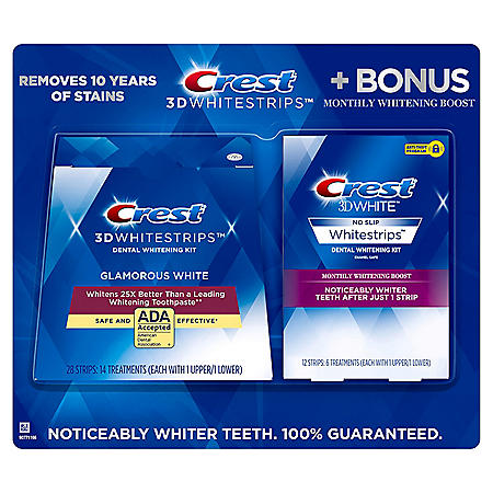 Crest - Crest 3D Whitestrips + Monthly Booster Strips (40 ct.)