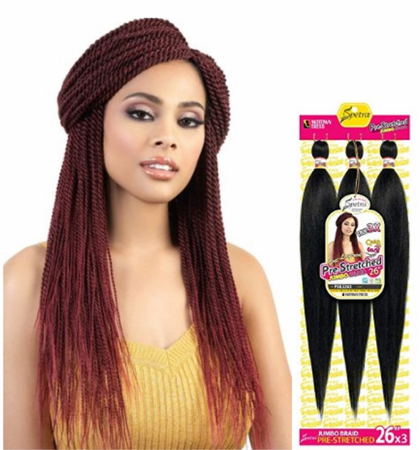 """Motown Tress - Motown Tress Spetra Pre-Stretched Quick N Easy Crochet Braid 26""""x 3 Synthetic"""
