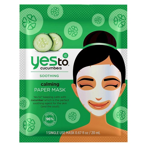 Yes To - Yes To Cucumbers Calming Paper Face Mask - 1ct