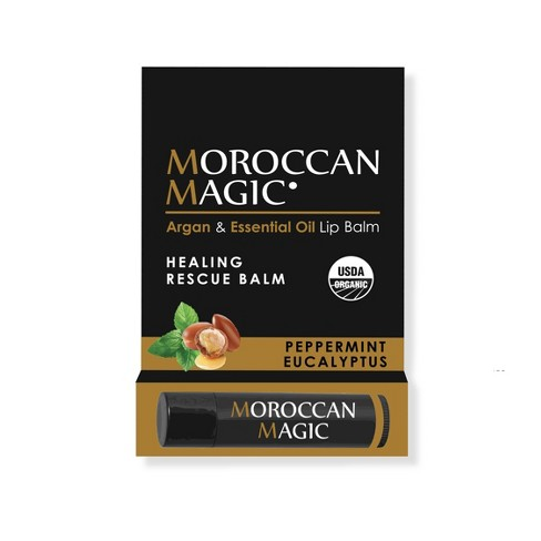 Target - Moroccan Magic Organic Lip Balm - Peppermint Eucalyptus - 0.15oz
