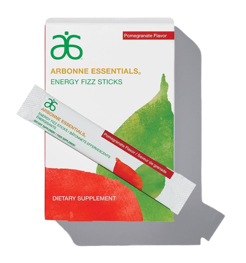 Arbonne - Energy Fizz Sticks - Pomegranate #2079