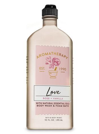 Bath & Body Works - Aromatherapy Rose Vanilla Body Wash & Foam Bath
