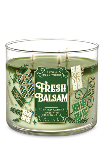 Bath & Body Works - Fresh Balsam 3-Wick Candle