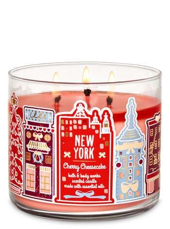 Bath & Body Works - Cherry Cheesecake 3-Wick Candle