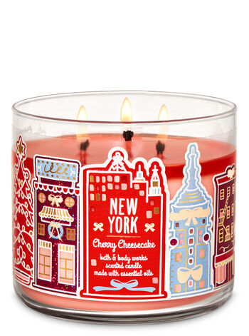Bath & Body Works - Cherry Cheesecake 3-Wick Candle