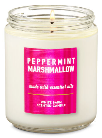 bathandbodyworks.com - White Barn Peppermint Marshmallow Single Wick Candle