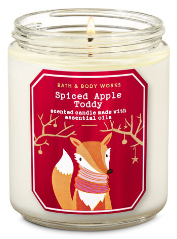 Bath & Body Works - Spiced Apple Toddy Single Wick Candle