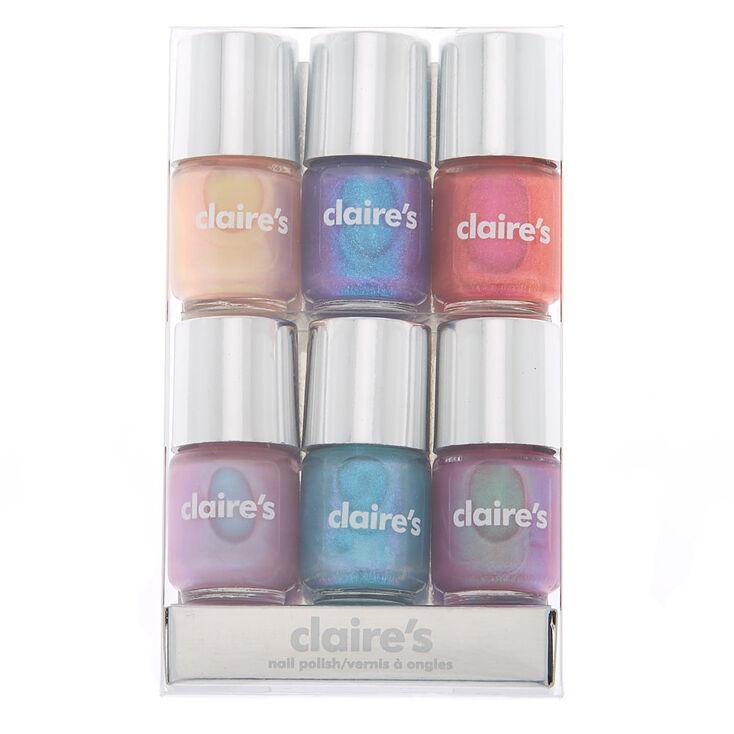 claires - Shimmer Mini Nail Polish Set - 6 Pack