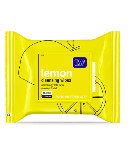 Clean & Clear - CLEAN & CLEAR Lemon Cleansing Wipes, 25 Count