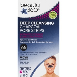 cvs.com - Beauty 360 Deep Cleansing Charcoal Pore Strips, 6CT