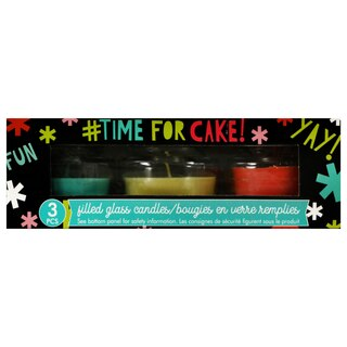 dollartree.com - Product details page for Celebration Themed Jar Candles, 3-ct. Packs is loaded.