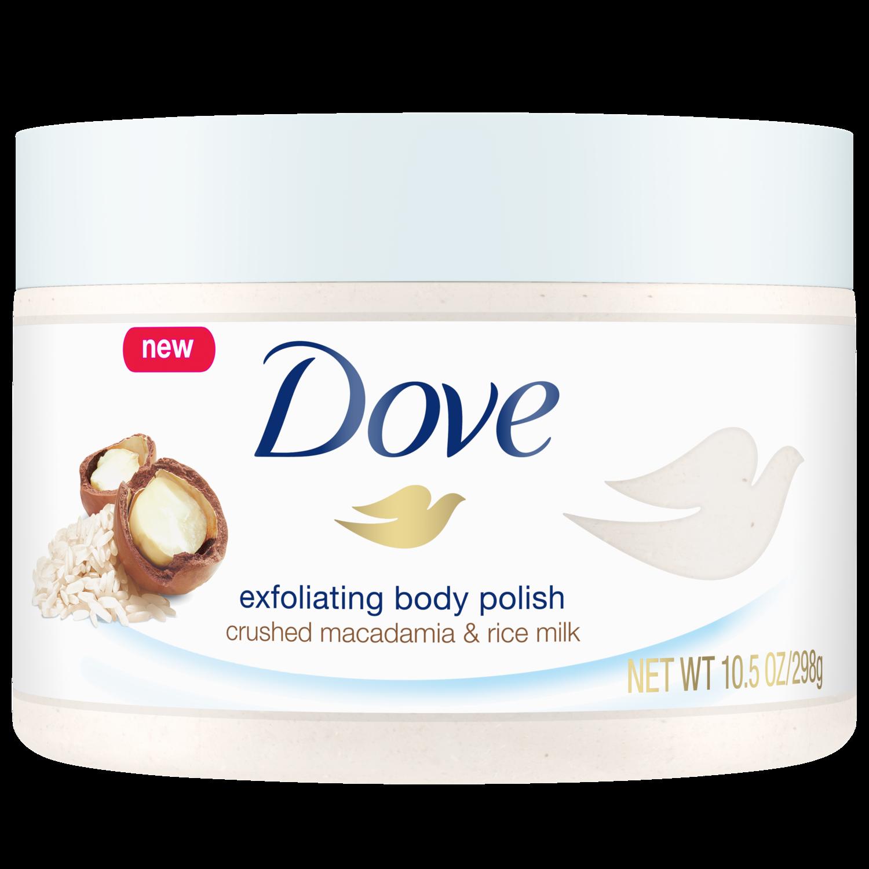 dove.com - Exfoliating Body Polish Crushed Macadamia & Rice Milk