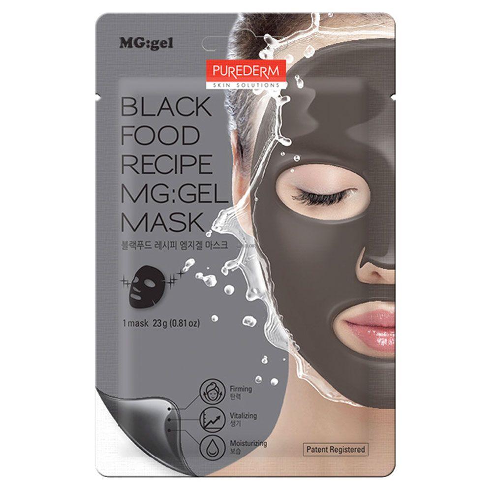 Purederm - Purederm black food recipe mg:gel mask