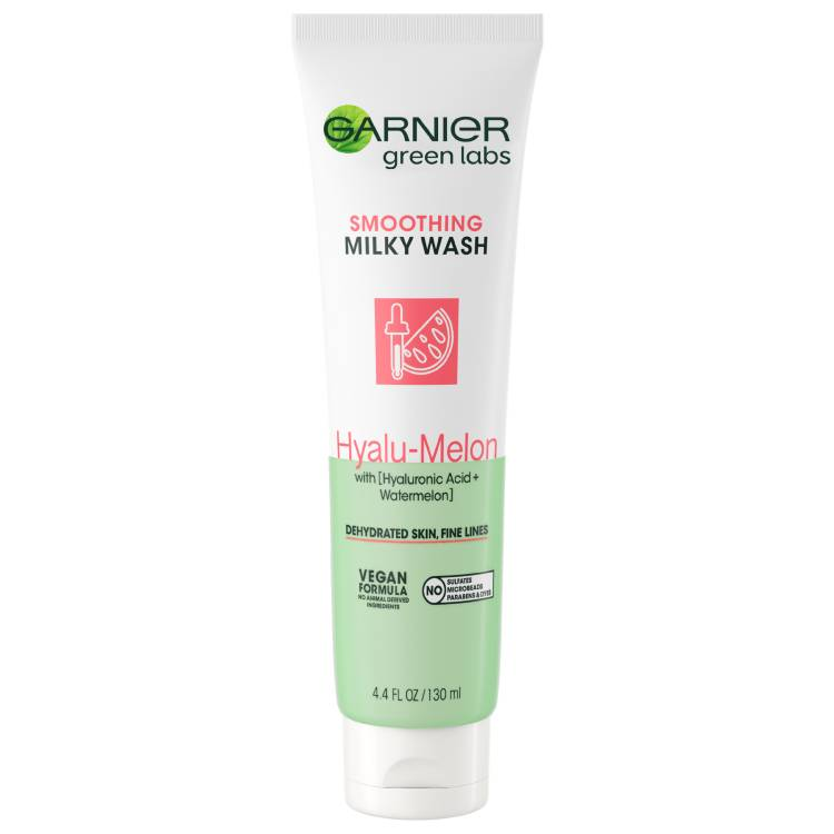 Garnier Green Labs - Hyalu-Melon Smoothing Milky Washable Cleanser