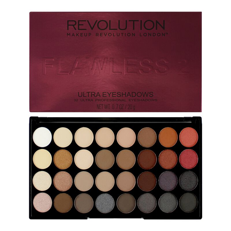 Product Brand Logo - Ultra 32 Shade Eyeshadow Palette Flawless 2