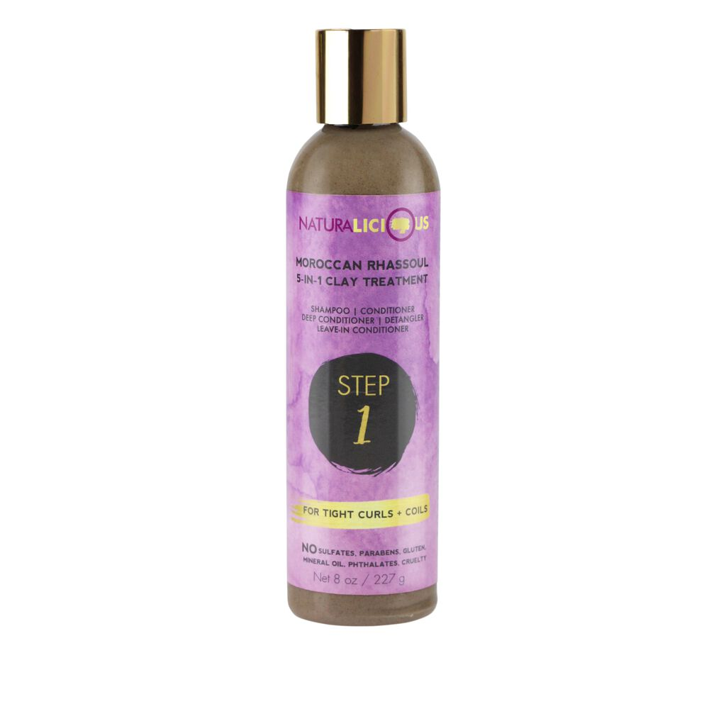 Naturalicious Moroccan Rhassoul 5 in 1 Clay Treatment For Tight Curls & Coils
