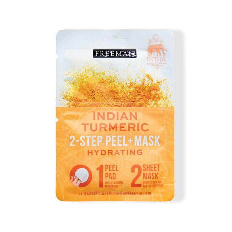 Freeman - 2-Step Peel Pad + Sheet Mask Indian Turmeric