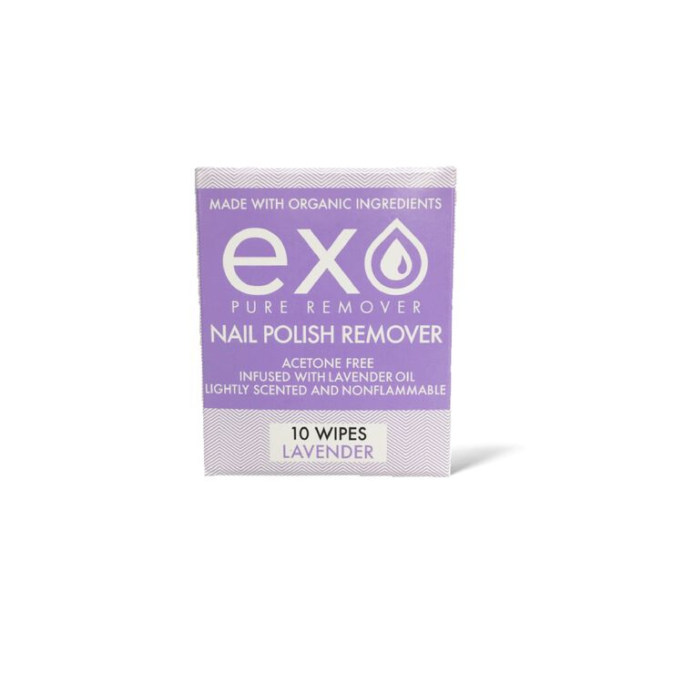 Exo Supply Pure Nail Polish Remover Lavender Scent Wipes