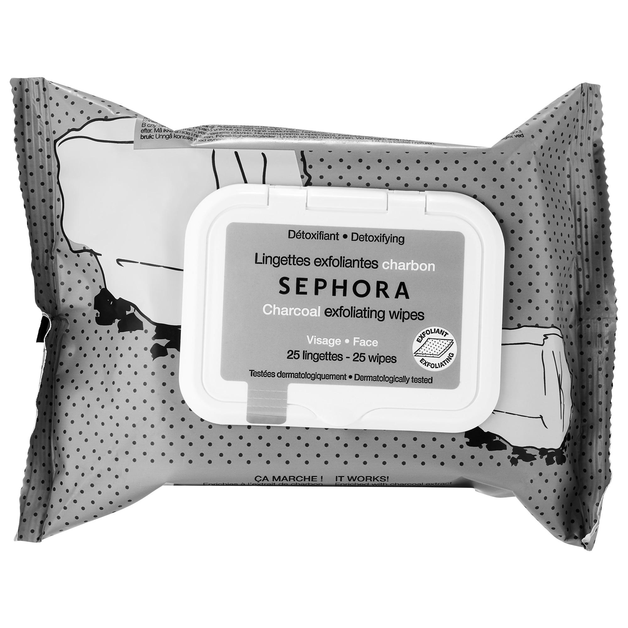 Sephora - Exfoliating Wipes - Charcoal - Detoxifying